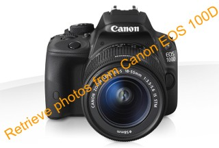 Retrieve deleted photos from Canon EOS 100D