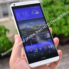 Recover deleted photos from HTC Desire 816G