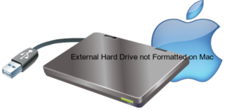 External Hard Drive not Formatted on Mac