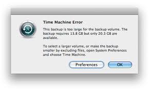 Mac Time Machine Error Code 43