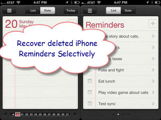 recover iPhone reminders