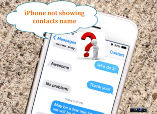 iPhone not displaying contact names