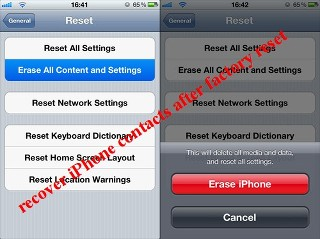 recover iphone contacts after factory reset