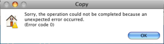 Mac Copy File Error Code 0