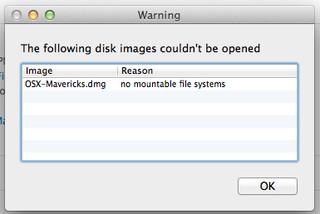 no mountable file system error mac os x