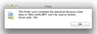 Error Code 36 on Mac OSX 10.6.4