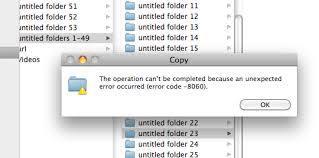 Mac error code 8060