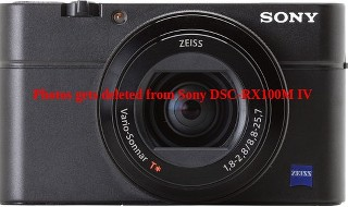 Photos gets deleted from Sony DSC-RX100M IV