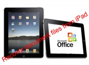 recover document files from iPad