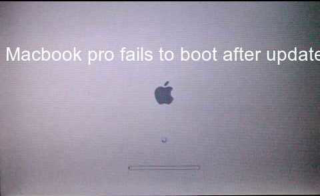 Macbook pro fails to boot after update