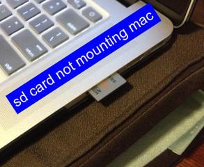sd card not mounting mac