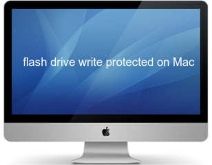 flash drive write protected on Mac