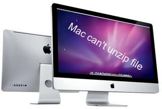 Mac can't unzip file