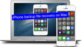 iPhone backup file recovery on Mac