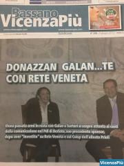 Elena Donazzan con Giancarlo Galan sulla copertina del n. 236 di VicenzaPiù del 9 giugno 2012