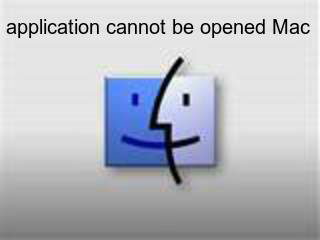 application cannot be opened Mac