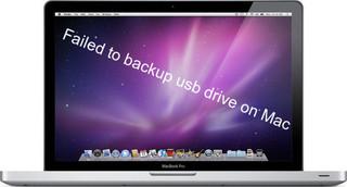 Failed to backup usb drive on Mac