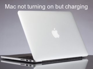 Mac not turning on but charging