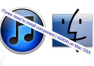 iTunes need to install component (-42404) on Mac OSX