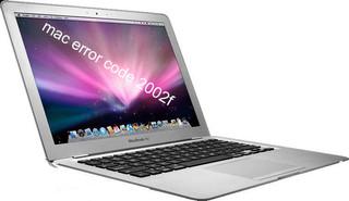Mac error code 2002f