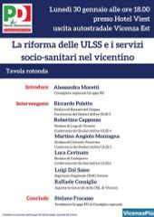 Locandina del convegno sulla sanità in Veneto