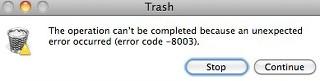 How to fix error code 8803 Mac