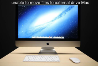 unable to move files to external drive Mac