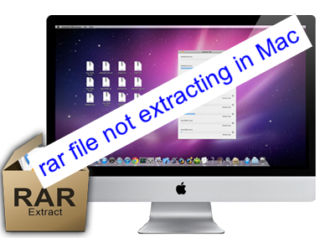 rar file not extracting in Mac