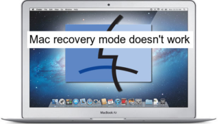 Mac recovery mode doesn't work
