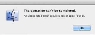 fix iMac error code 8058