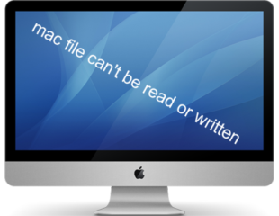 mac file can't be read or written