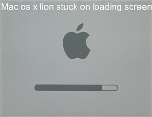 Mac os x lion stuck on loading screen