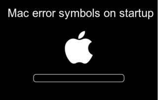 Mac error symbols on startup