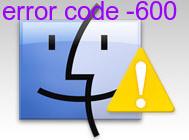 error code -600