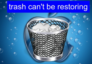 trash can't be restoring