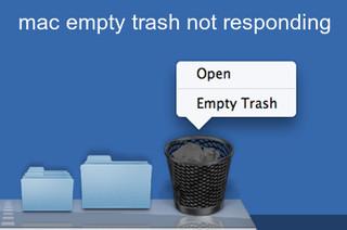 mac empty trash not responding