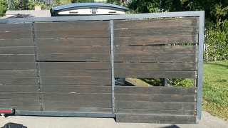 Improperly finished gate, damaged by sun, wind and rain