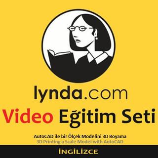 Lynda.com Video Eğitim Seti - AutoCAD ile bir Ölçek Modelini 3D Boyama - İngilizce
