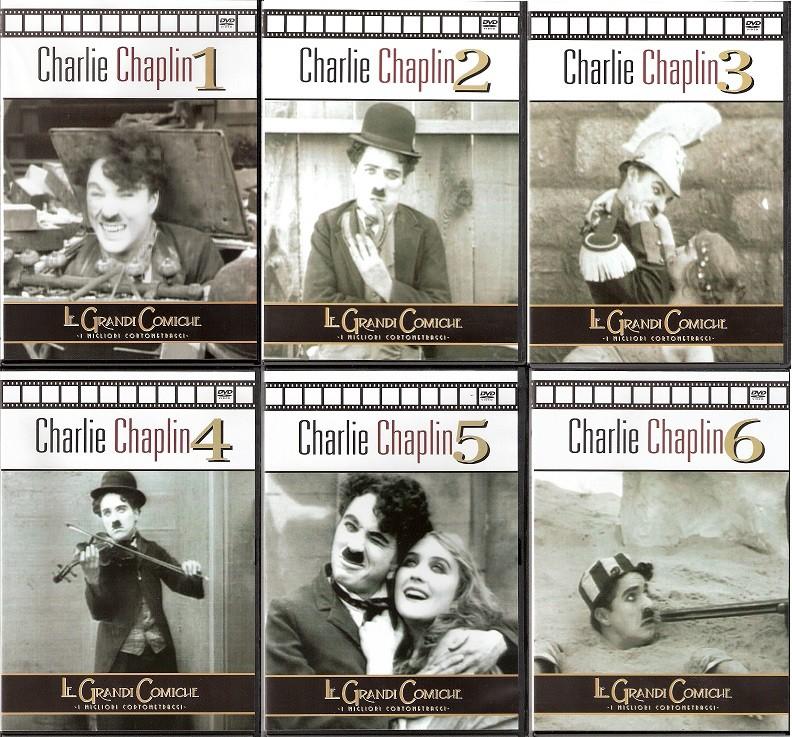 Charlie Chaplin - Le Grandi Comiche (1915-1917) 6 DVD9 COPIA 1:1 MUTO
