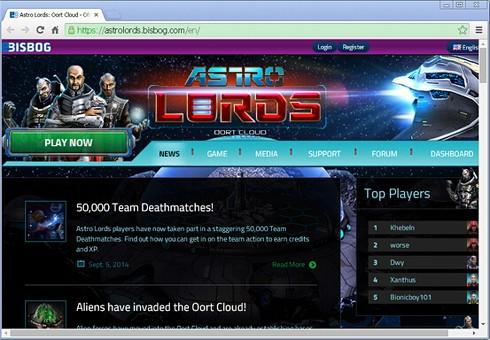 Astrolords.bisbog.com emergente