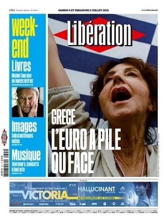 Liberation week-end Du Samedi 4 Dimanche 5 Juillet 2015