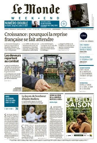 Le Monde Weekend et 2 Suppléments du Samedi 15 Août 2015