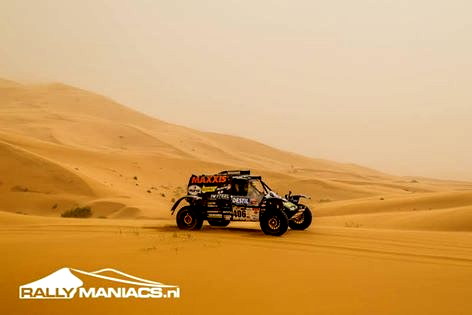 Tim Coronel finishes SS6 on his way to Marrakech