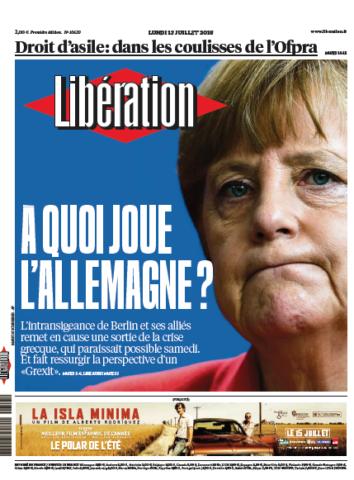 Liberation Du Lundi 13 Juillet 2015
