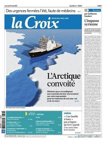 La Croix Du Mercredi 19 Août 2015