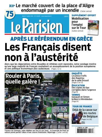 Le Parisien + Journal de Paris du mardi 7 juillet 2015