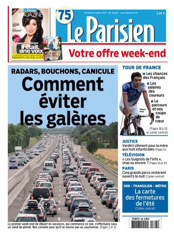 Le Parisien + Journal de Paris du Vendredi 3 Juillet 2015