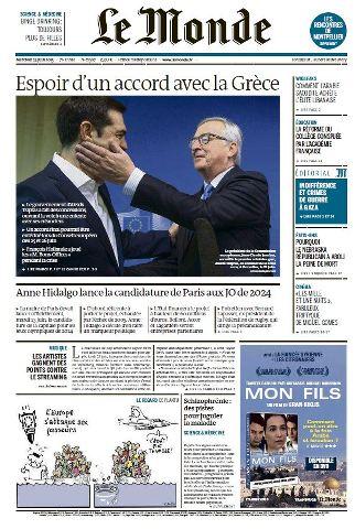 Le Monde du Mercredi 24 Juin 2015