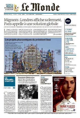 Le Monde du Mercredi 5 aout 2015