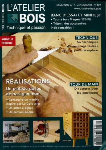 L'Atelier Bois 189 - Décembre 2014/Janvier 2015